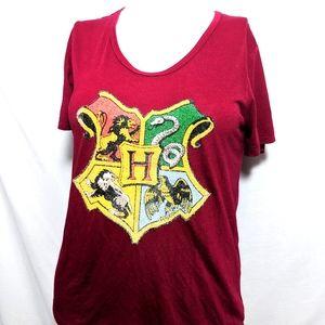 Harry Potter Large Top Red Hogwarts Crest